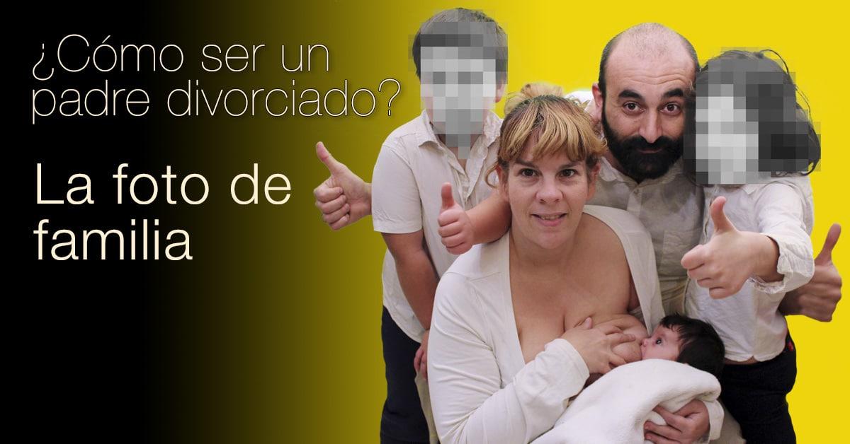 Cómo ser un padre divorciado: Foto de familia mecano